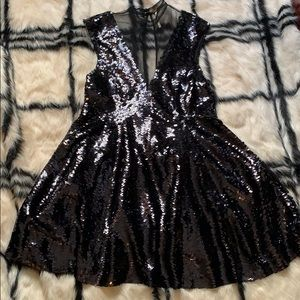 FreePeople Sequin Skater Dress